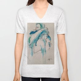 Twig and Ink Series #73 Unisex V-Neck