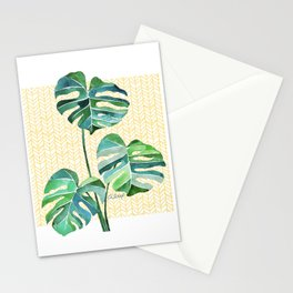 MONSTERAS IN SUNLIGHT Stationery Cards
