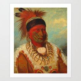 The White Cloud, Head Chief of the Iowas, Catlin Art Print