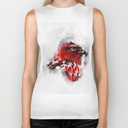 Water Colors Robin Biker Tank