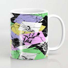 Pastel Marble Tiles Abstract Pattern Coffee Mug