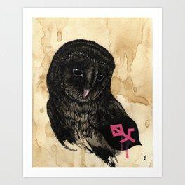 """Open"" series, XVI (Barn owl) Art Print"