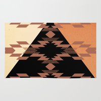 mexico Area & Throw Rugs featuring Mexico by Laura Santeler