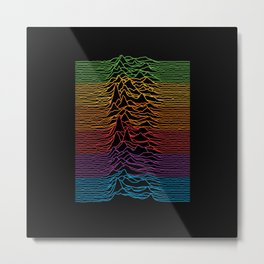 Joy Division - Unknown Apple Pleasures Metal Print