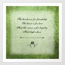 Claddagh ~ Love, Loyality, and Friendship Art Print