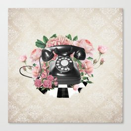 Vintage Rotary Phone Canvas Print