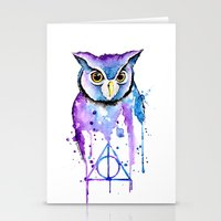 hedwig Stationery Cards featuring Hedwig by Simona Borstnar