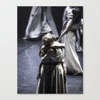 ballet Canvas Prints featuring Ballet by Sébastien BOUVIER