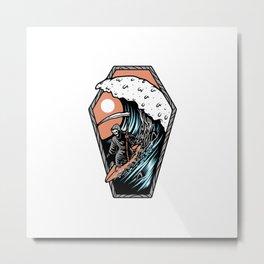 Surf Till Die Metal Print