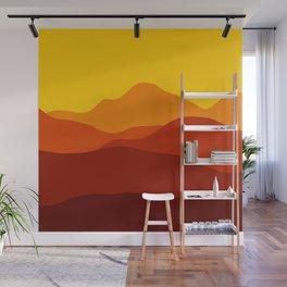 Mountains at Sunset  #society6 #decor #buyart #artprint Wall Mural