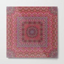 Farah Squared Red Metal Print