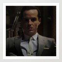 moriarty Art Prints featuring Professor Moriarty by GingerRogers