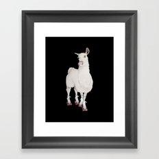 LLAMA IN L.A. Framed Art Print