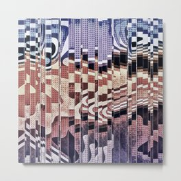 Abstract Halftones Collage Metal Print