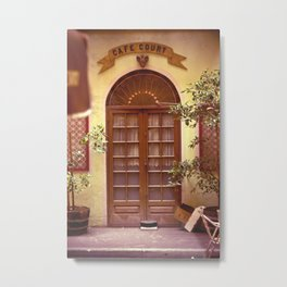 Cafe Court Metal Print