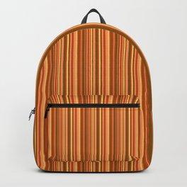 Orange striped . Backpack