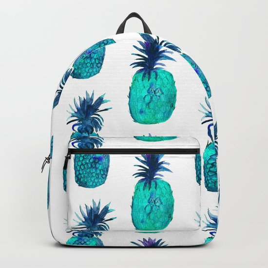 Mint pineapples || watercolor Backpack