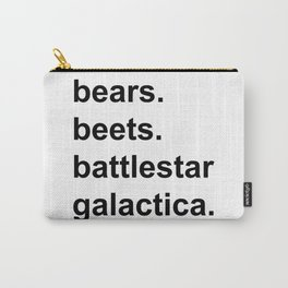 Bears Beets Battlestar Galactica (lowercase) - the Office Carry-All Pouch