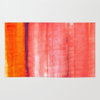 rothko Area & Throw Rugs featuring Summer heat by Picomodi
