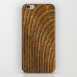 zara - art deco arc arch design in bronze copper gold iPhone Skin