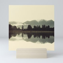 Peaceful Mountain Scene With Quiet Lake Reflections Mini Art Print