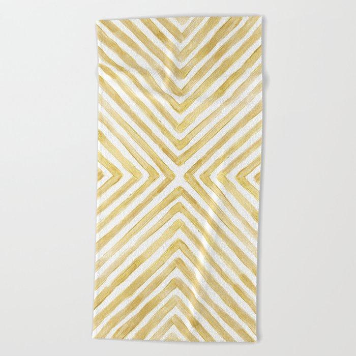 Gilded Bars Beach Towel