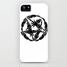 Gothic Cats Pentagram Satan funny gift iPhone Case