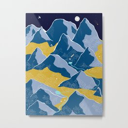 Say goodnight to the mountains Metal Print
