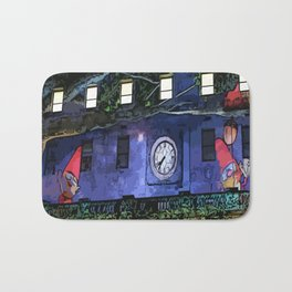 GNOMES IN THE CLOCKTOWER CHILDRENS GRAPHIC ART  Bath Mat