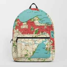 Vintage Map of Madison Wisconsin (1959) Backpack