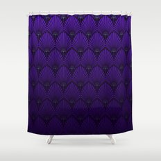 Variations on a Feather II - Raven Wing Shower Curtain