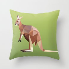 Geometric Kangaroo Throw Pillow
