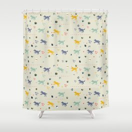 Polyhedral Dice- Wolves Shower Curtain