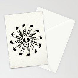 Vignette music note mandala Stationery Cards