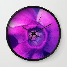 Blue, purple, pink cyclamen Wall Clock