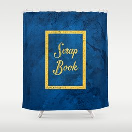 Vintage Acrylic Scrapbook Cover Shower Curtain
