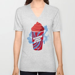 """Freeze Your Brain"" Heathers Minimalist Unisex V-Neck"