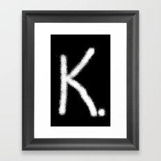 K. Framed Art Print