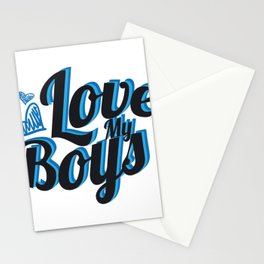 Love My Boys Mother's Day For Mom Stationery Cards