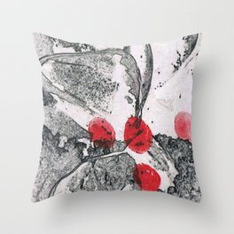 Discovering the Footprints Throw Pillow