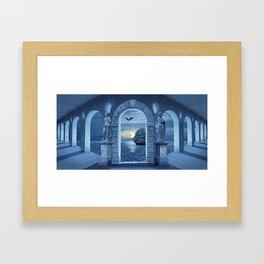 Mysterious Orangery Framed Art Print