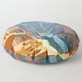 Geometric Grand Canyon National Park, USA Floor Pillow