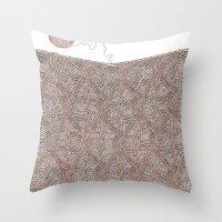 knitting Throw Pillows featuring Knitting experience by Julia Kisselmann