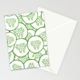 Cucumber slices pattern design Stationery Cards