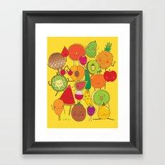 Veggies Fruits Framed Art Print