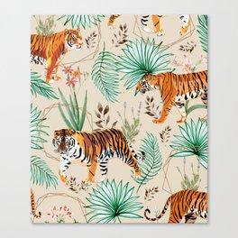 Tropical & Tigers Canvas Print