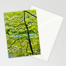 Water's White Blossoms Stationery Cards