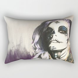 Catrina Sugar Skull Rectangular Pillow