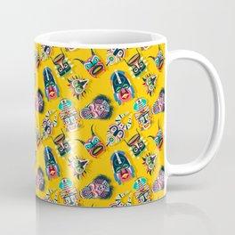 Tribal mask pattern Coffee Mug