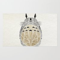 arnold Area & Throw Rugs featuring totoro by Manoou